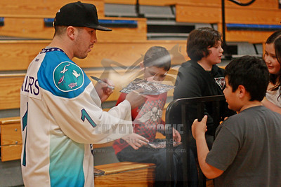3/14/2013 - Youth Lacrosse Clinic with Rochester Knighthawks Joe Walters - Oneida Nation Rec Center & Gym, Oneida Nation Territory (Oneida, NY)