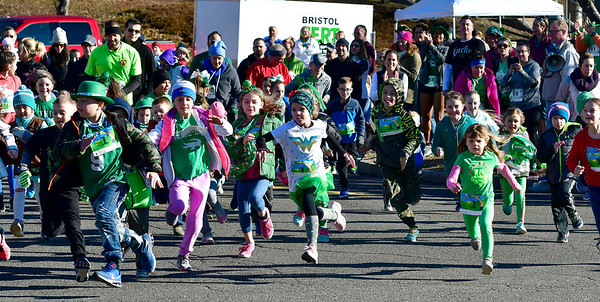 3/16/2019 MIke Orazzi | Staff The Kids Fun Run during the 17th Annual Shamrock Run & Walk at Chippens Hill Middle School on Saturday in Bristol.