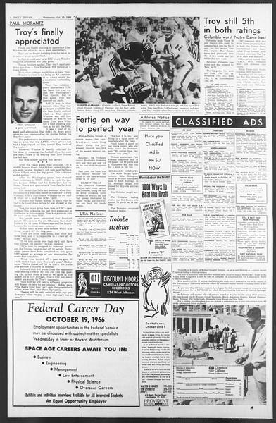 Daily Trojan, Vol. 58, No. 22, October 19, 1966