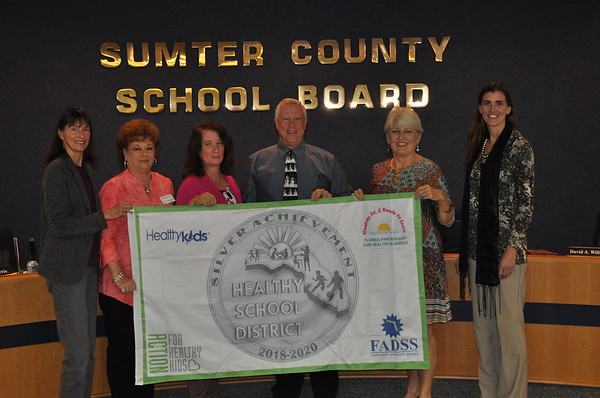 2018 - Presentation of Florida Healthy School District Award by Ksena Zipperer