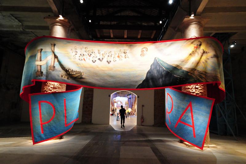 Goshka Macuga Plus Ultra. 2009 Woven tapestry