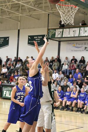Girls Basketball, Danville vs West Burlington 1/22/2013