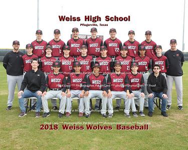 2018 Weiss Wolves Baseball