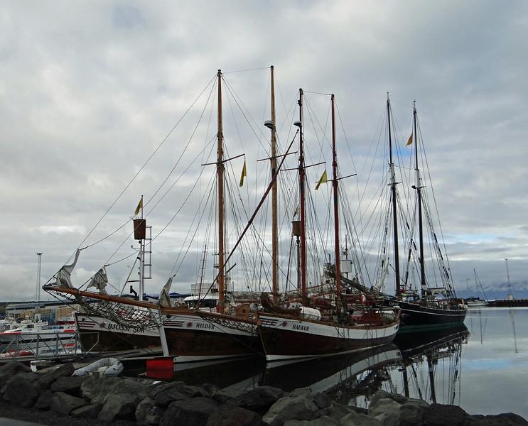 Sailing vessels, Húsavík