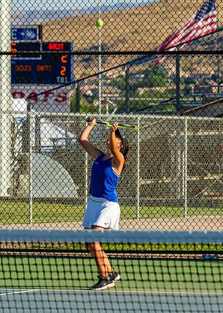 2019-08-27 Dixie HS Girls Tennis vs Hurricane