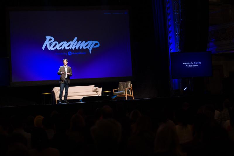 RoadMap SF Amplitude @Amplitude_HQ #roadmap @JustinJbauer Vp of Product Amplitude Justin Bauer Show Sponsors @womenpm @Optimizely & @segment