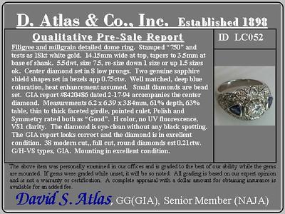 .97ct Round Brilliant Diamond & Sapphire Dome Ring