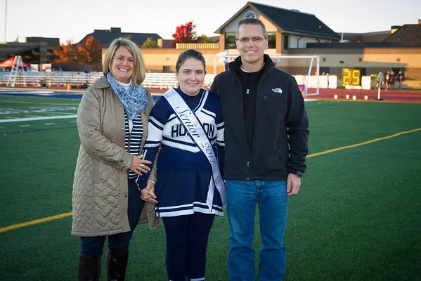 HHS Senior Night 2016 Football and Cheer