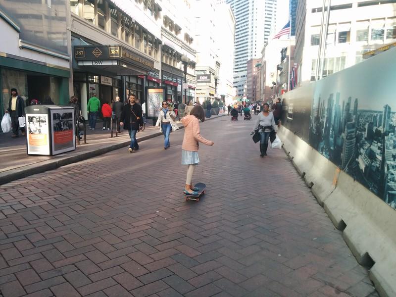 Skating down Washington Street
