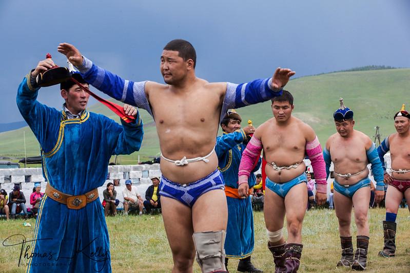 Wrestling at Naadam Festival