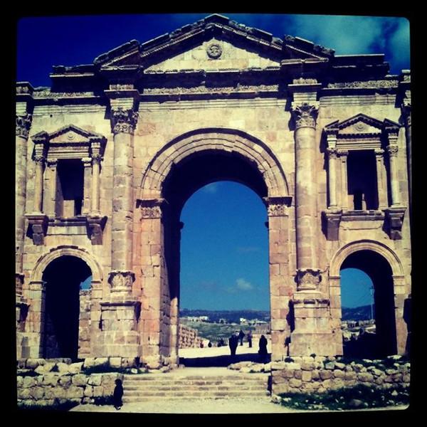 Hadrian's Gate -- Jerash, Jordan