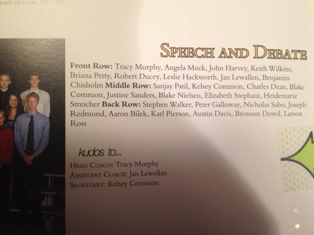 . From the 2012 Arapahoe High School Year Book
