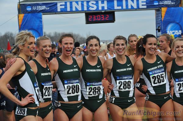 MSU Women Post Race - 2014 NCAA D1 XC Championships