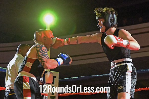 Bout 11:   Robbie Taylor, Blue Gloves, Unattached, Atwater, OH   -vs-   Luke Groves, Zanesville PAL, Zanesville, OH,  165 Lbs., Novice