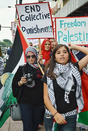 Palestinian Protest - Denver - 7/8/14
