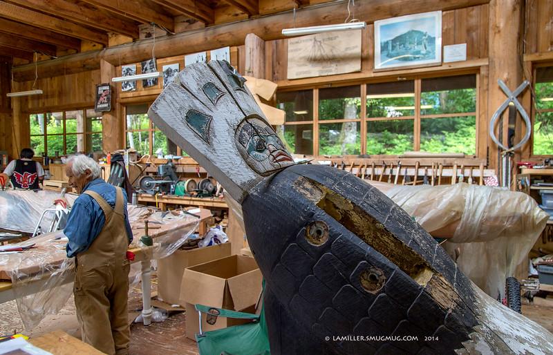 Nathan Jackson In His Workshop - Saxman, AK