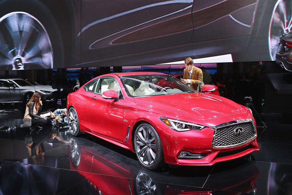 . Infiniti shows off the Q60S at the North American International Auto Show on January 12, 2016 in Detroit, Michigan. The show is open to the public from January 16-24.  (Photo by Scott Olson/Getty Images)