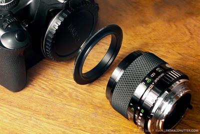Lens reversing macro