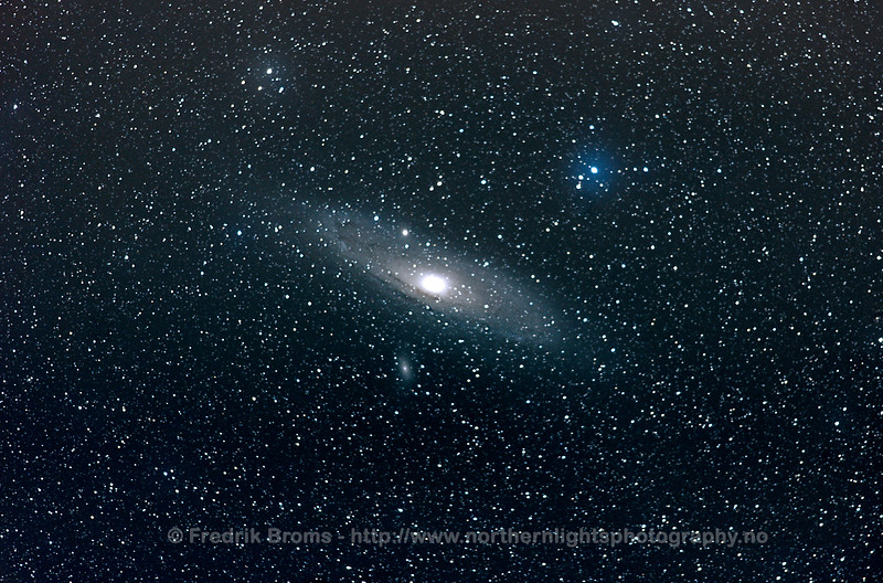The Andromeda Galaxy (M31) and its satellite dwarf galaxy; M110