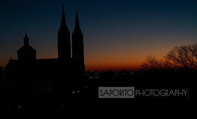 Basilica at Dawn - Mission Hill, Boston