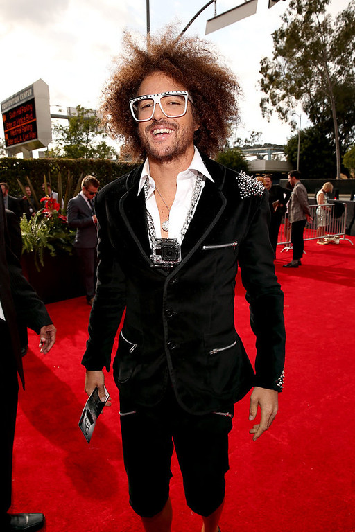 . LMFAO Band member Stefan Kendal Gordy arrives at the 55th Annual GRAMMY Awards on February 10, 2013 in Los Angeles, California.  (Photo by Christopher Polk/Getty Images for NARAS)