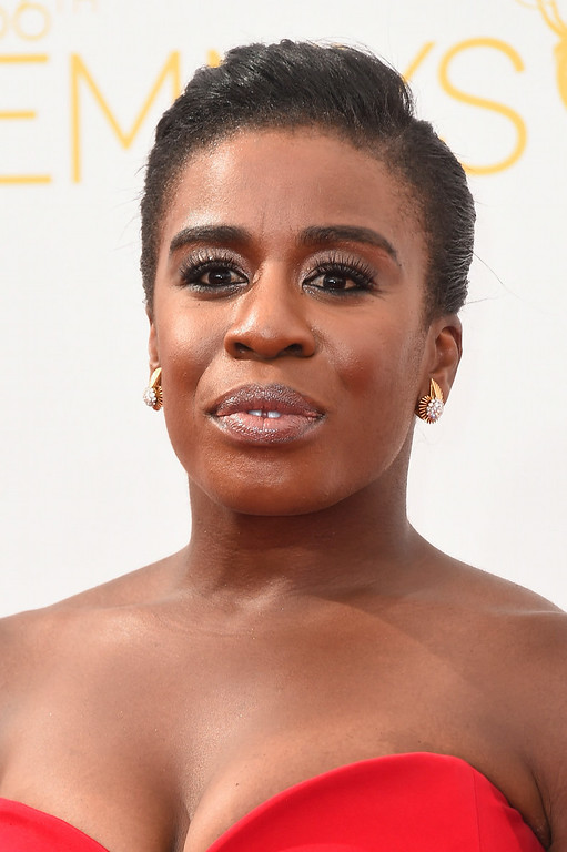 . Actress Uzo Aduba attends the 66th Annual Primetime Emmy Awards held at Nokia Theatre L.A. Live on August 25, 2014 in Los Angeles, California.  (Photo by Frazer Harrison/Getty Images)
