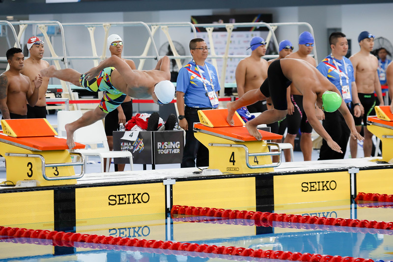 PARA SWIMMING - Singapore Athletes in action in Men's 4*100 Freestyle Relay Finals at Aquatics Centre, KL on September 20th, 2017 (Photo by Sanketa Anand)