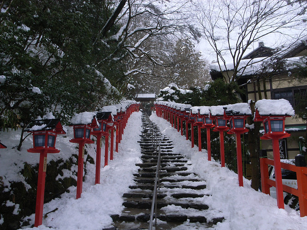 Steps To Kibune-jinja Shrine