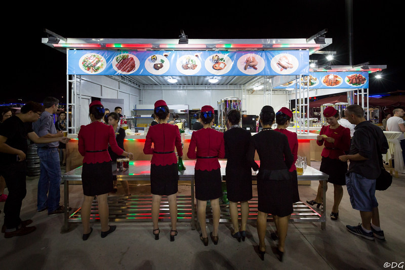 North Korea, Pyongyang. At the 2016 beer festival.