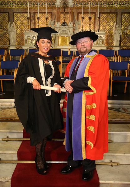Pictured is Amanda Peters, Cork who graduated Bachelor of Business (Hons). Also pictured is Dr. Derek O'Byrne, Registrar of Waterford Institute of Technology (WIT). Picture: Patrick Browne.