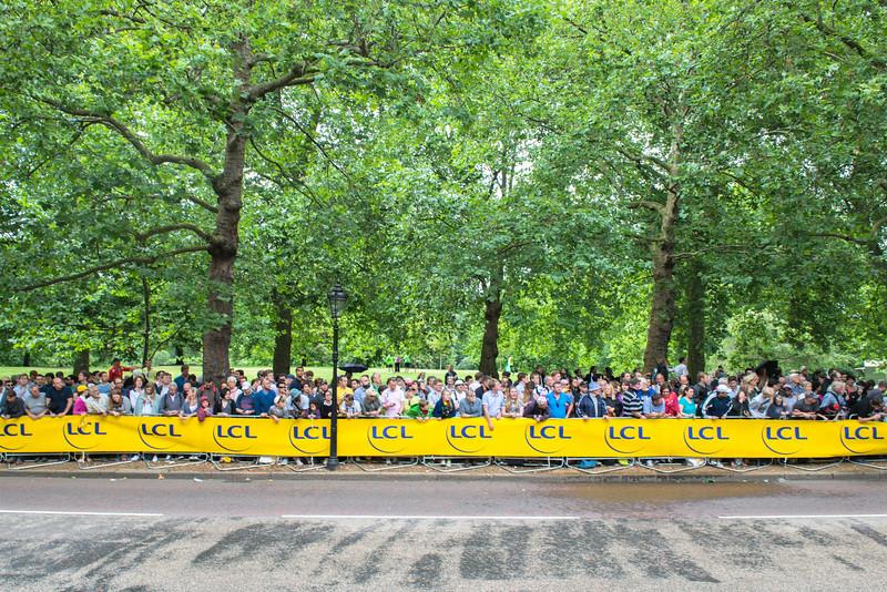 Central London - Tour De France spectators