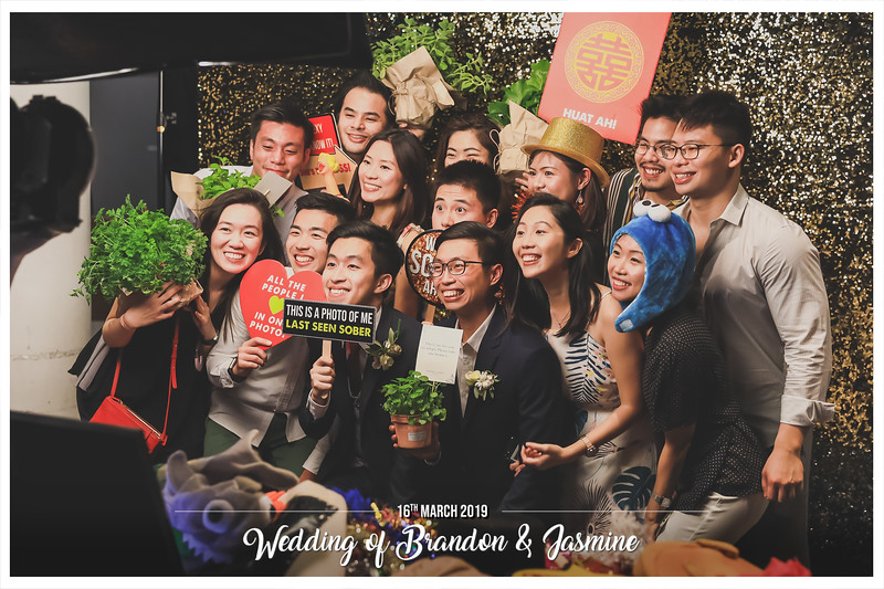 Wedding of Brandon & Jasmine | © www.SRSLYPhotobooth.sg