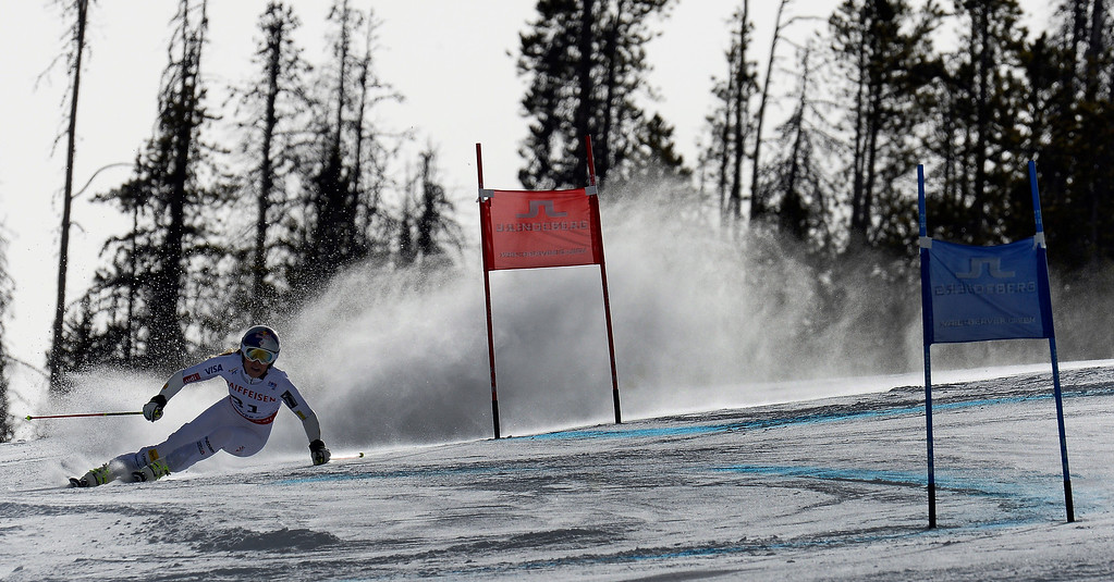 . BEAVER CREEK, CO - FEBRUARY 12: Lindsey Vonn of the United States competes in the first run of the  Ladies Giant Slalom event at the FIS Alpine World Ski Championships in Beaver Creek, CO. February 12, 2015. (Photo By Helen H. Richardson/The Denver Post)