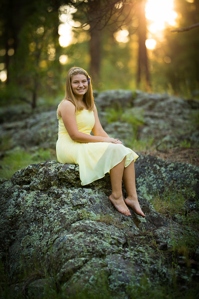 Katie yellow dress
