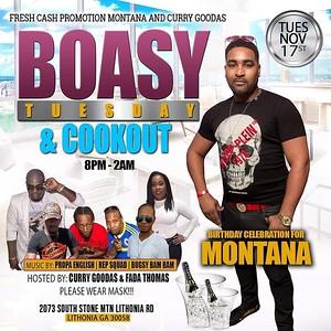 BOASY TUESDAY FEATURING MONTANA BIRTHDAY BASH