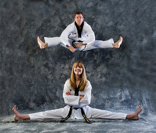 Ashley & Chris Black Belt Studio Shoot