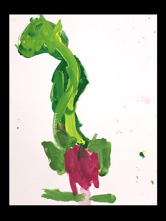 PreKindergarten Radish Paintings