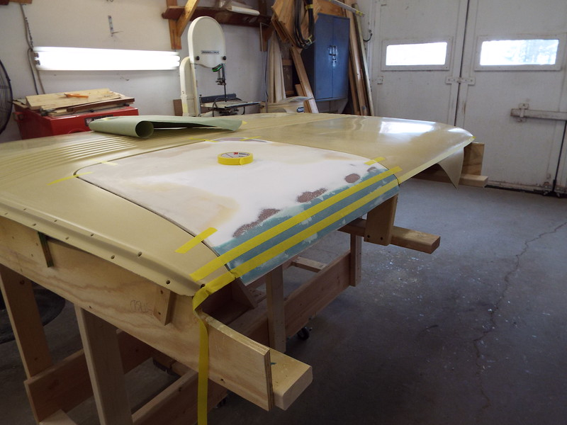 Getting ready to cut the door to length.