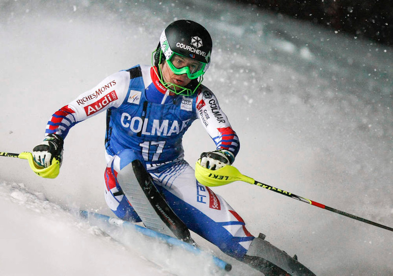 . Alexis Pinturault of France skis to win the men\'s World Cup Slalom skiing race in Val d\'Isere, French Alps, December 8, 2012.    REUTERS/Emmanuel Foudrot