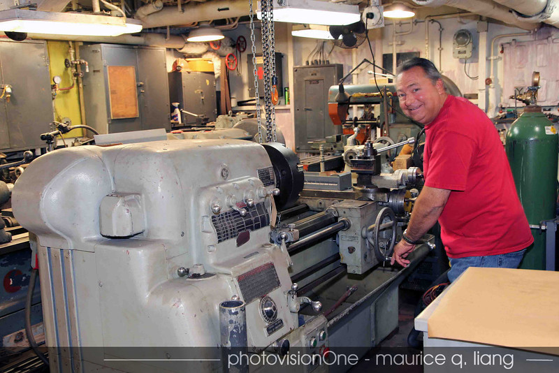 Rocky grooves on the machine shop.