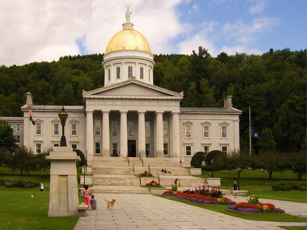 Vermont capitol building in Montpelier