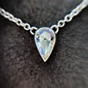 0.48ct 18kt White Gold Rose Cut Bezel Pendant 23
