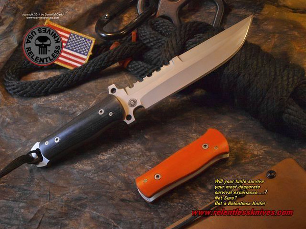 Relentless Knives M4 Ranger Custom Military Survival knife