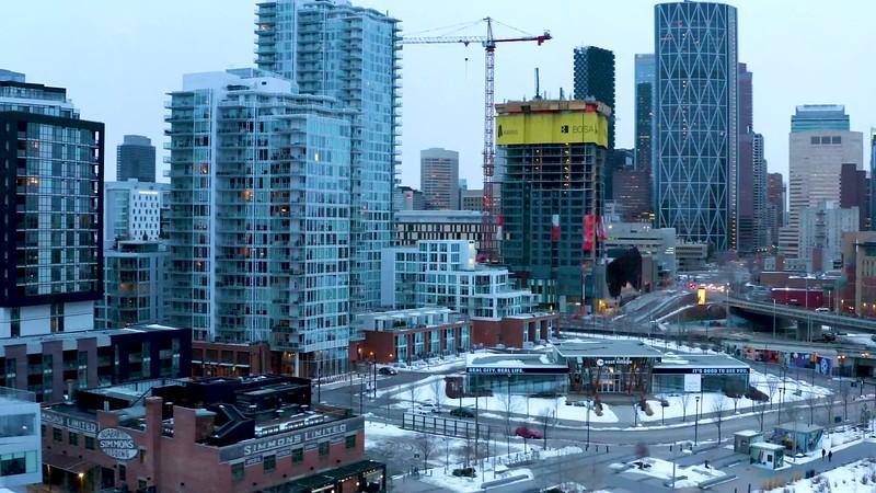 Calgary East Village Aerials