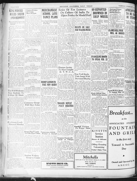 Daily Trojan, Vol. 22, No. 84, February 10, 1931