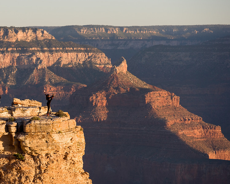 Zoe Pappis at Mather Point in the Grand Canyon.