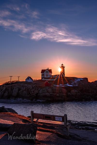 Sunrise at Nubble Light