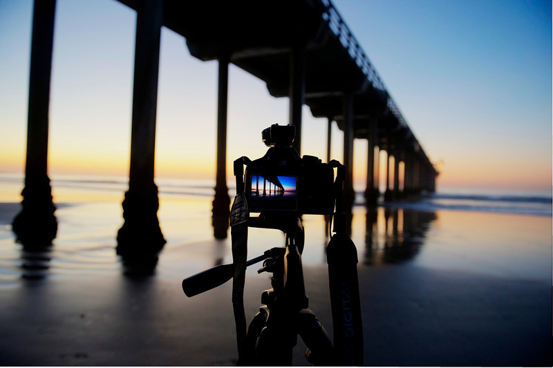 Messing around with shots and Peter at the Pier around sunset. A real beautiful place I go to capture beautiful sunsets San Diego style.