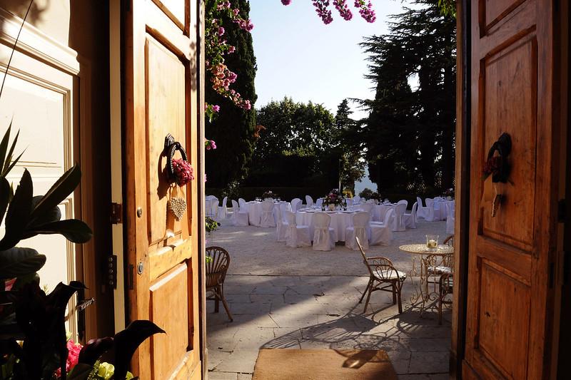 Front doors, ground floor (set up for a wedding)