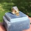 1.55ctw Old Mine Cut and Sapphire Gypsy Ring, GIA 26